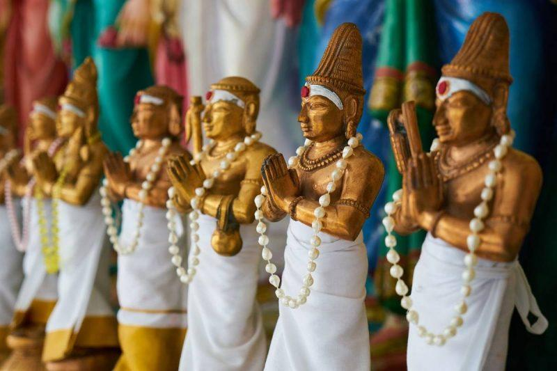 Statues for sale at a Cambodian market