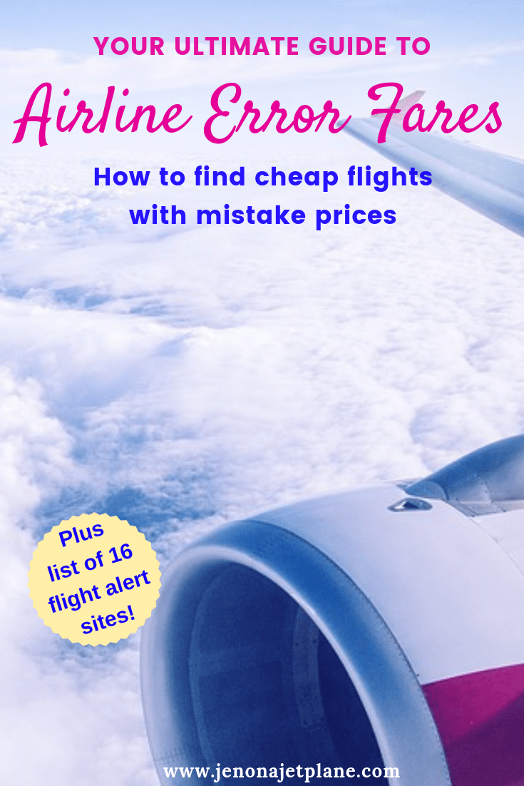 Want to know how to take advantage of mistake fares in airline pricing and land a great airline deal to an exotic destination around the world? Hereis everything you need to know about error fares, from how to find them to ways to increase the chances of the deal being honored. Save to your travel board for future reference. #mistakefares #cheapflights #budgettravel #traveltips #vacation #onabudget #flyforfree #flyforcheap