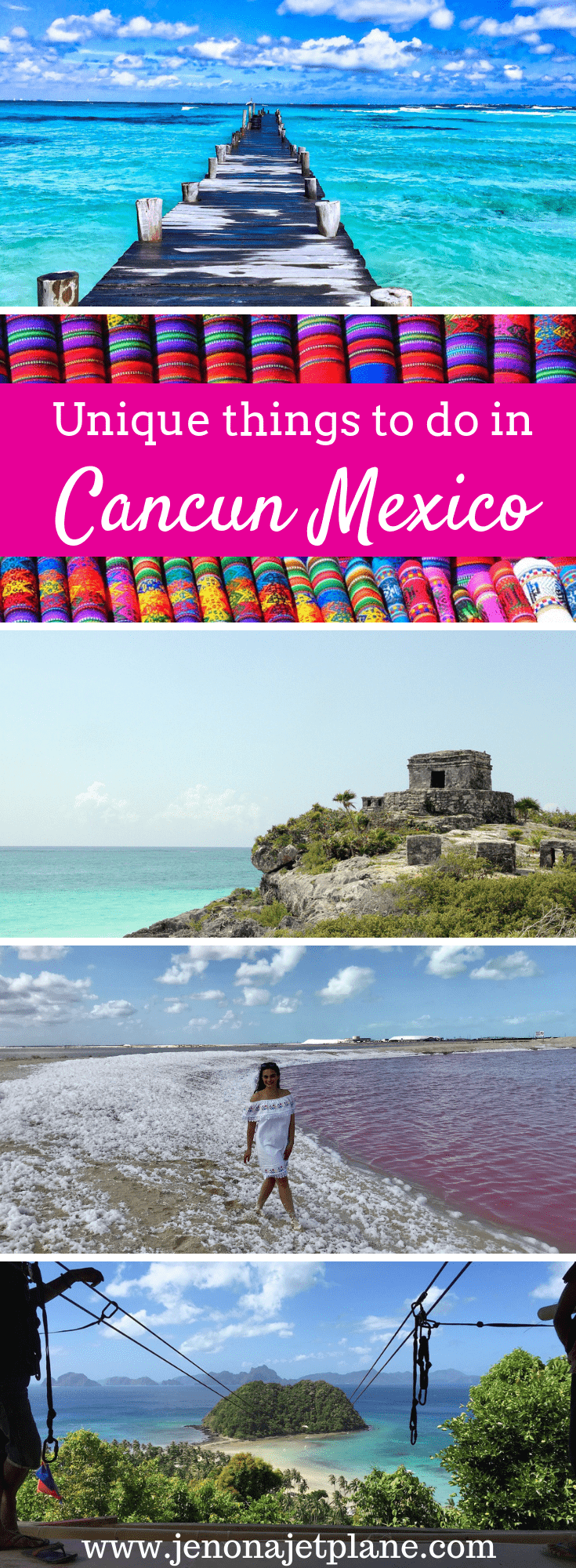 Looking for unique things to do in Cancun, Mexico away from the hotel strip? From swimming with whale sharks to seeing pink rivers on a day trip to Las Coloradas, here are 9 unforgettable adventures in Cancun you can't miss. Save to your travel board for future reference. #cancun #cancunmexico #mexicotravel #thingstodoinCancun #adventuretravel #bucketlist #travelinspiration