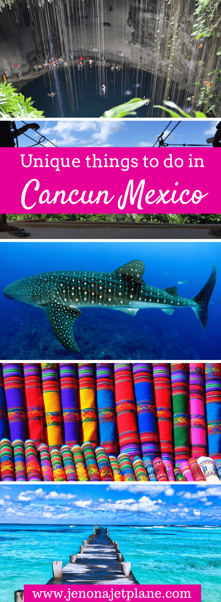 Looking for unique things to do in Cancun, Mexico away from the hotel strip? From swimming with whale sharks to seeing pink rivers on a day trip to Las Coloradas, here are 9 unforgettable adventures in Cancun you can't miss. Save to your travel board for future reference. #cancun #cancunmexico #mexicotravel #thingstodoinCancun #adventuretravel #bucketlist