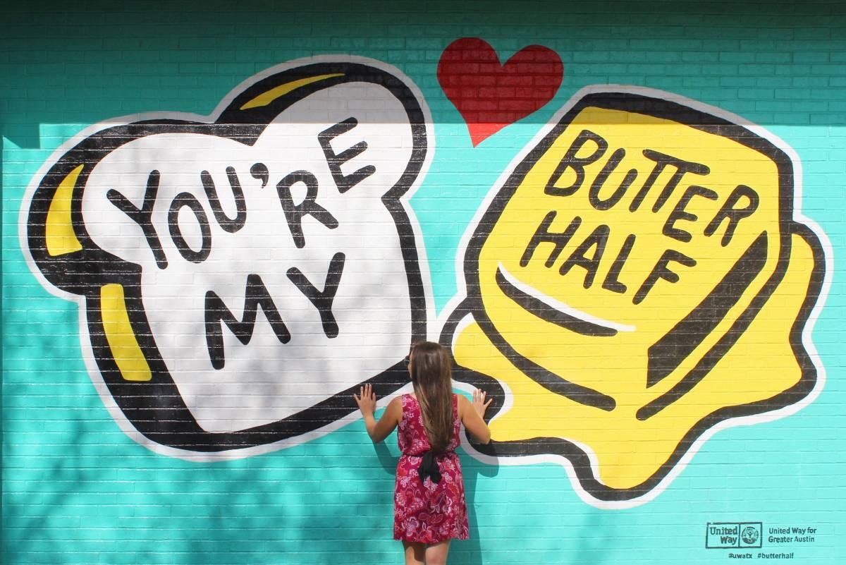 Butter Half Mural Austin
