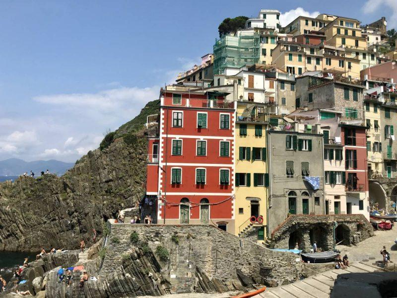 View of the houses in Riomaggiore