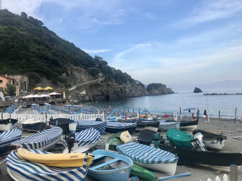 Boats my the beach in Monterosso