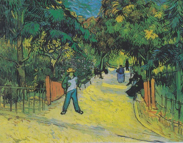 Van Gogh's painting of park entrance in Arles