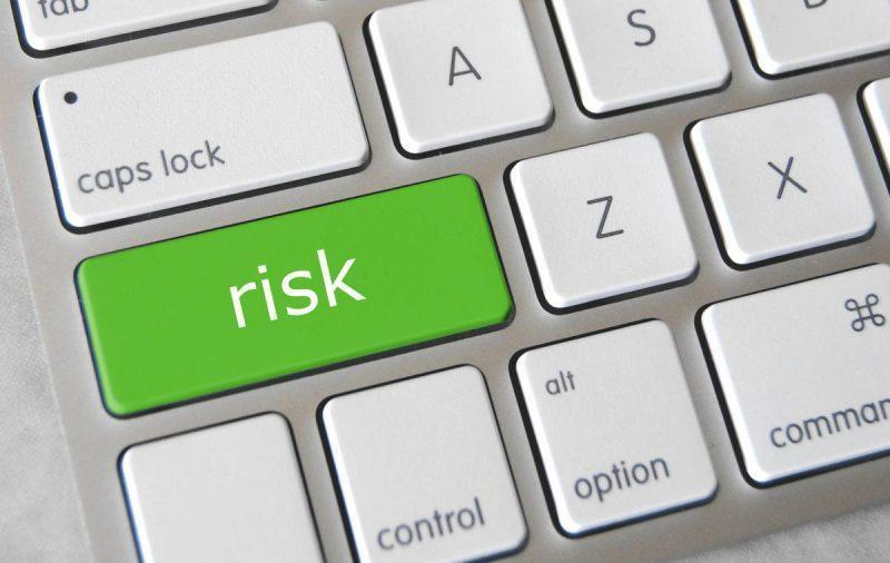 Keyboard showing risk button