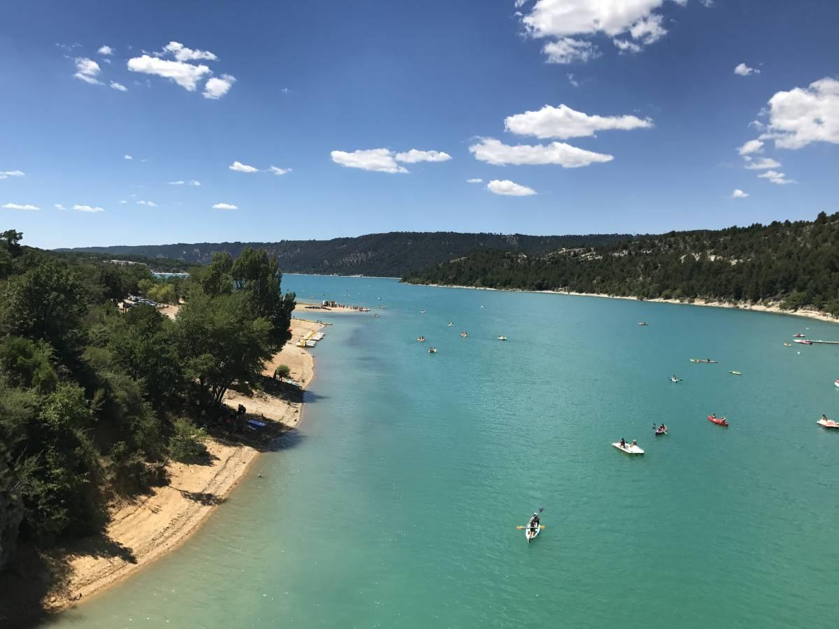 Blue waters at Lac de Saint Croix in the South of France