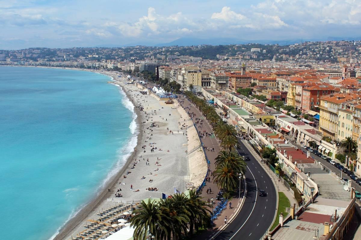 View of the French Rivera in Nice
