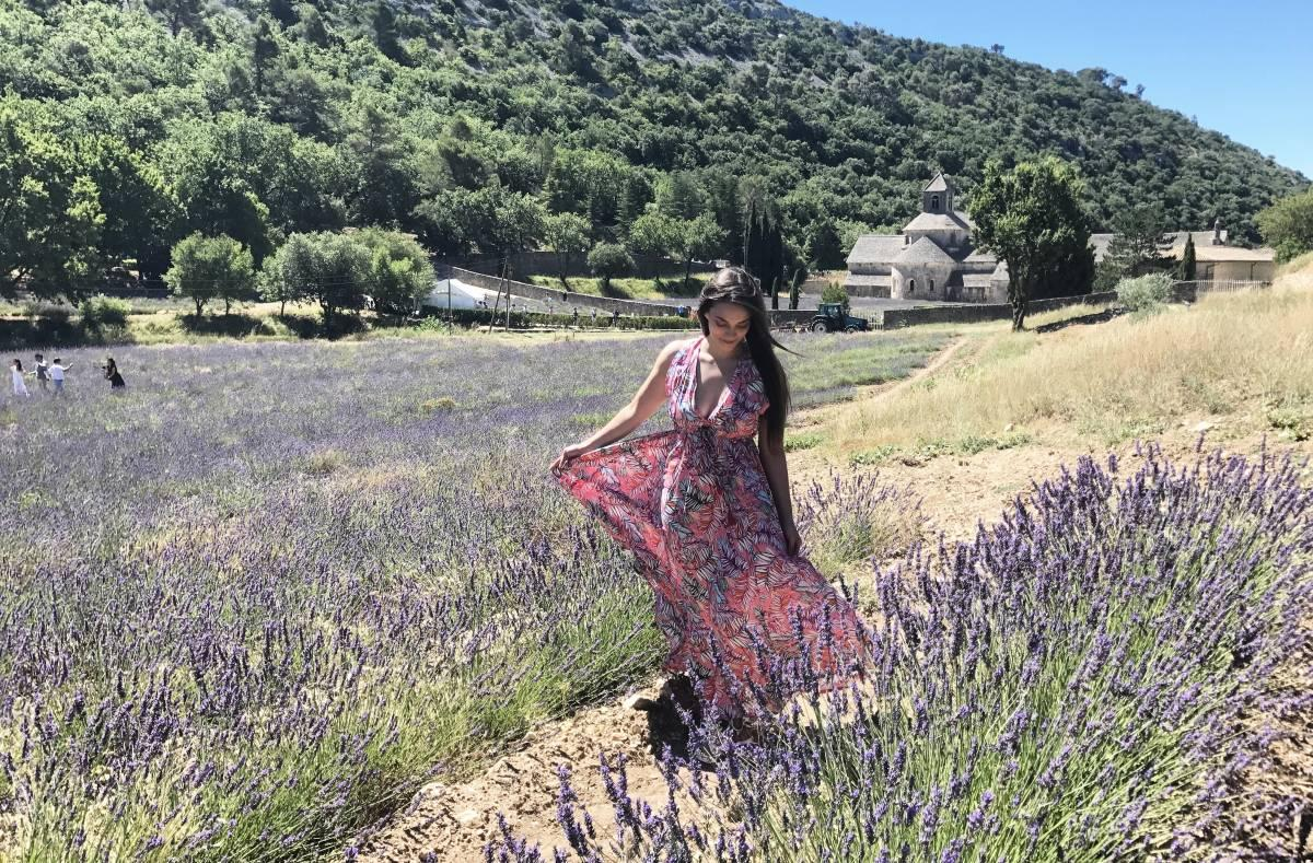 Strolling the lavender fields in the South of France