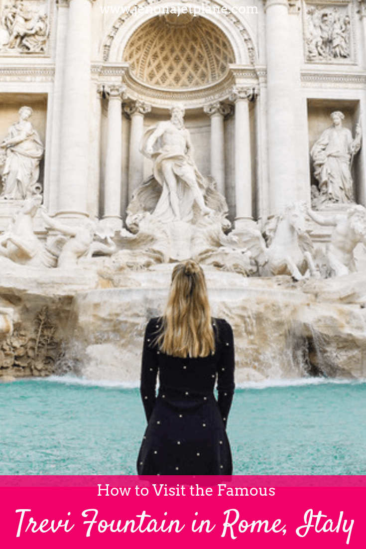 Want to know more about the Trevi Fountain, like where to find it and the best time of day to visit? Here's your ultimate visitor's guide to one of Rome's most famous attractions. Save to your Italy travel board for future reference. #trevifountain #trevifountainpictures #romeitalythingstodo #italyart #italytravel #italytraveltips #trevifountaininstagram