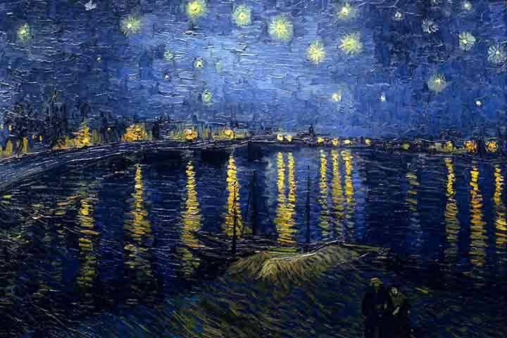 Van Gogh's painting of Starry Night Over the Rhone