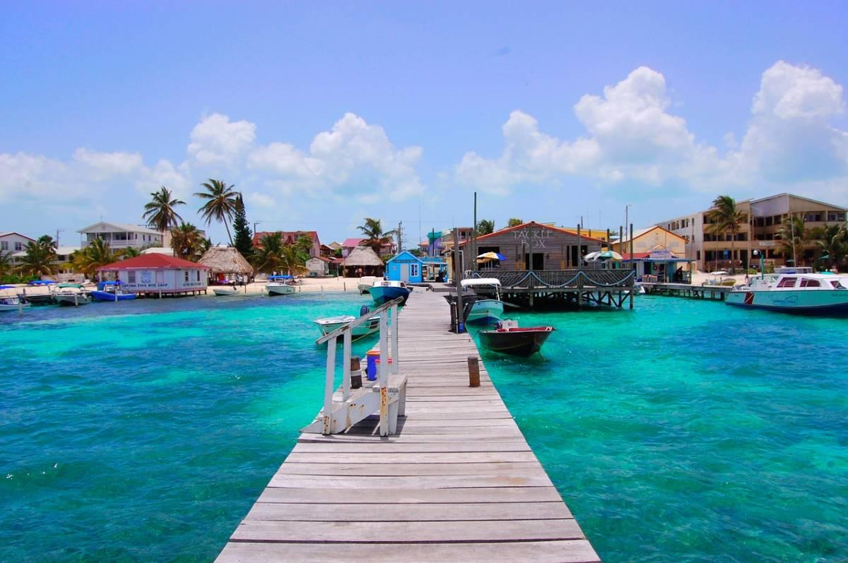 Seaside dock in Belize