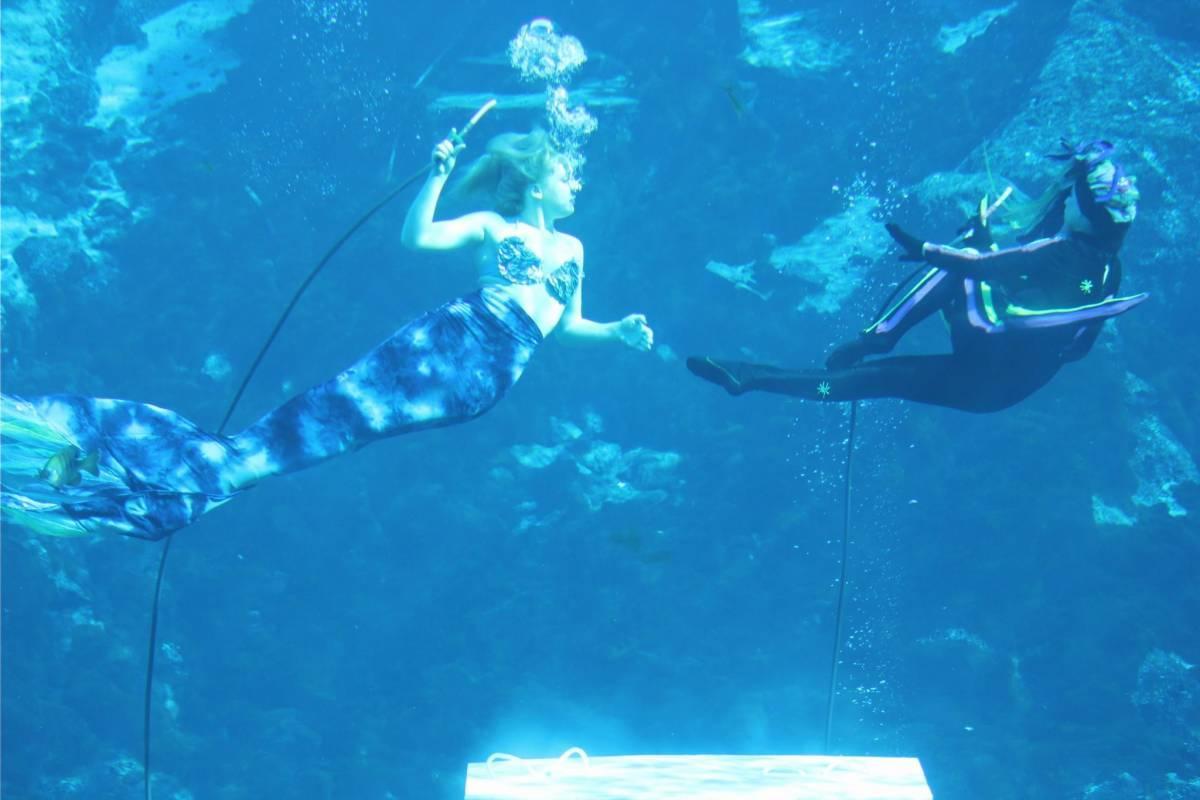 Mermaids underwater
