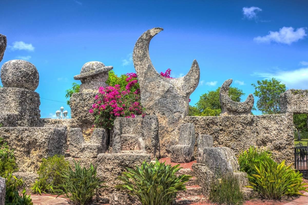 Lunar rock carving at Coral Castle