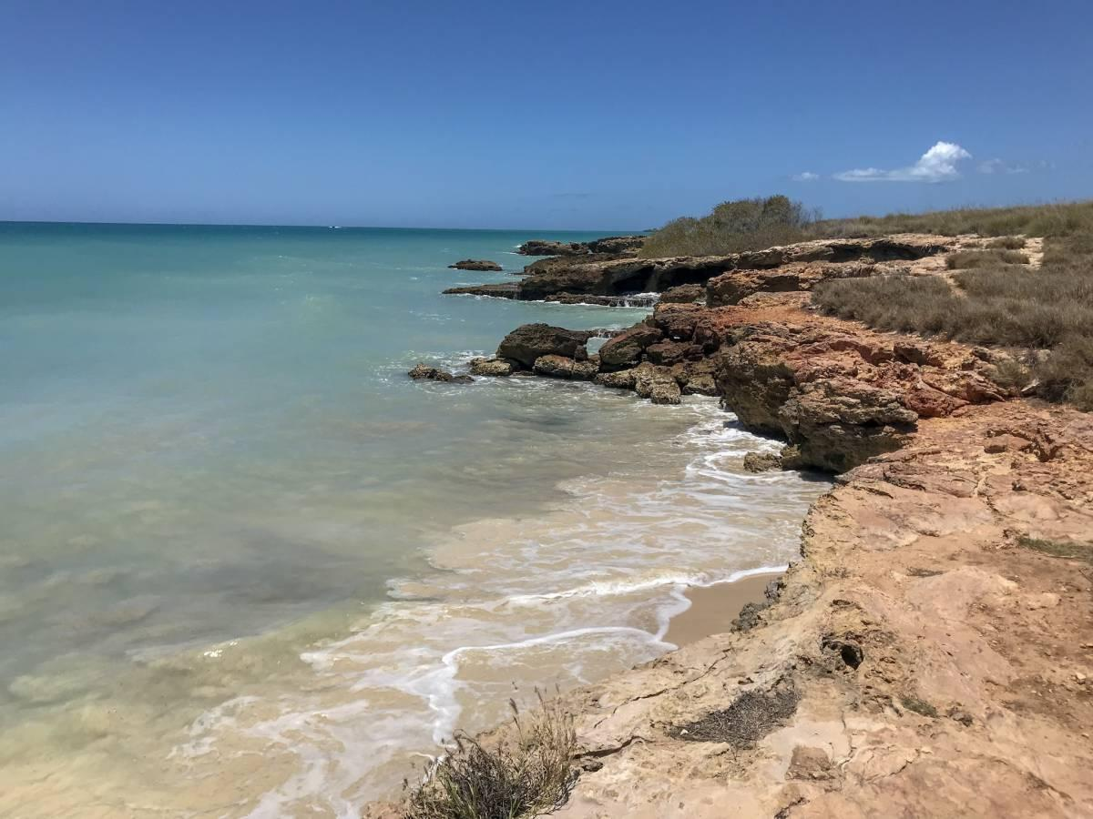 Cliffs by the ocean in Cabo Rojo