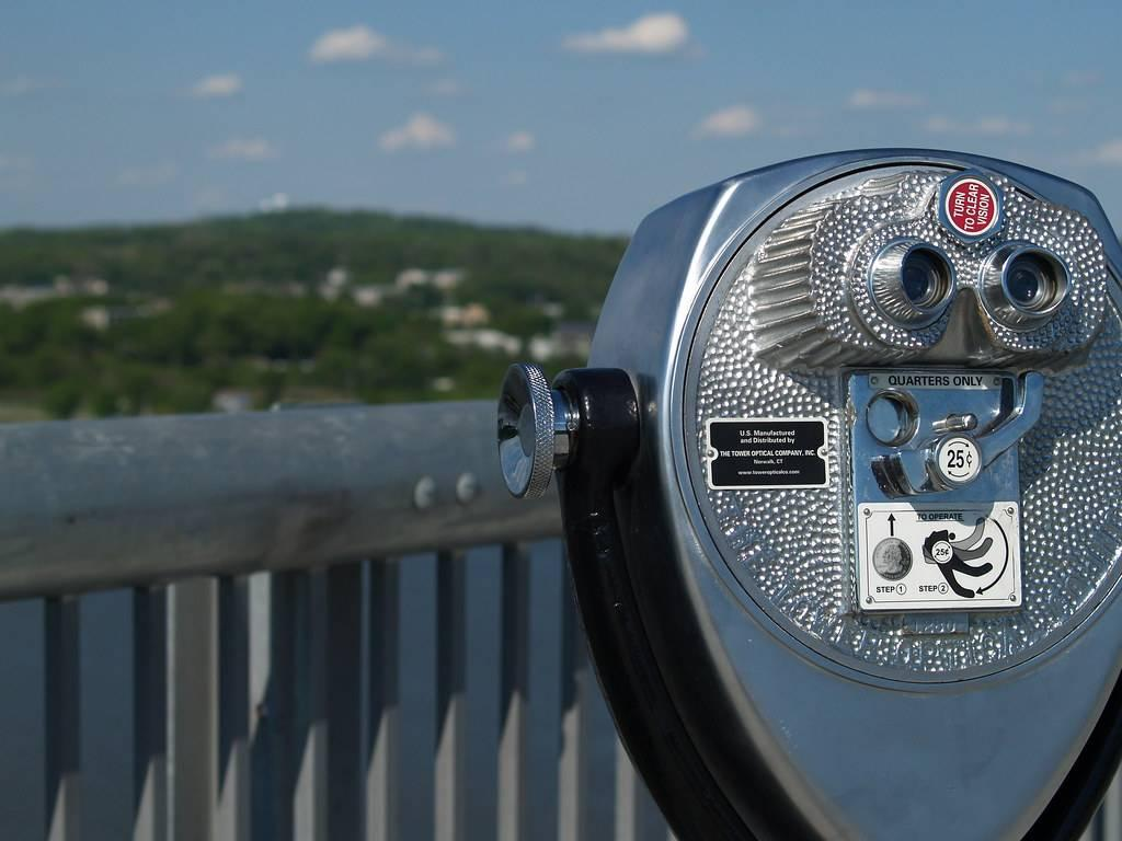 Tower viewer on the bridge