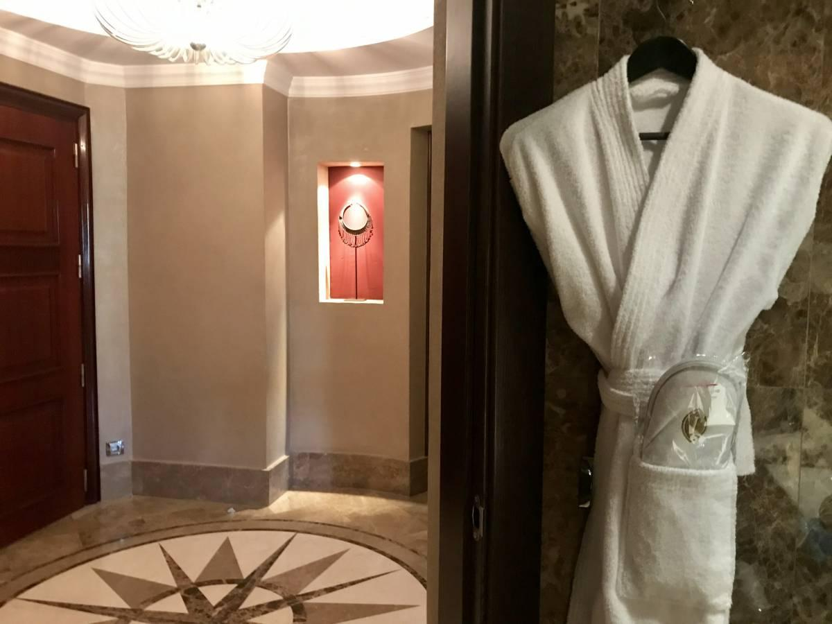 Complimentary bathrobe in the rooms