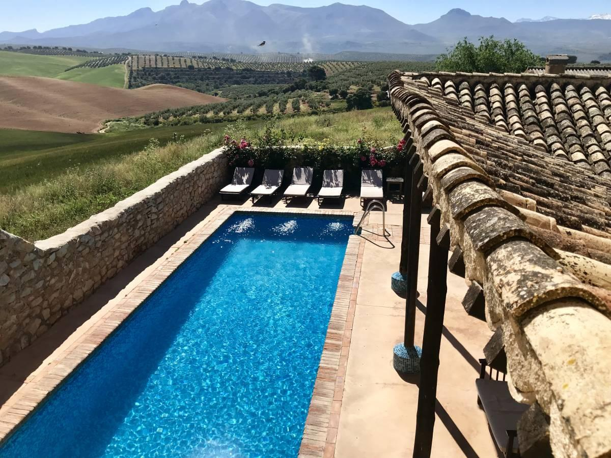 Pool area at the Cortijo del Marques