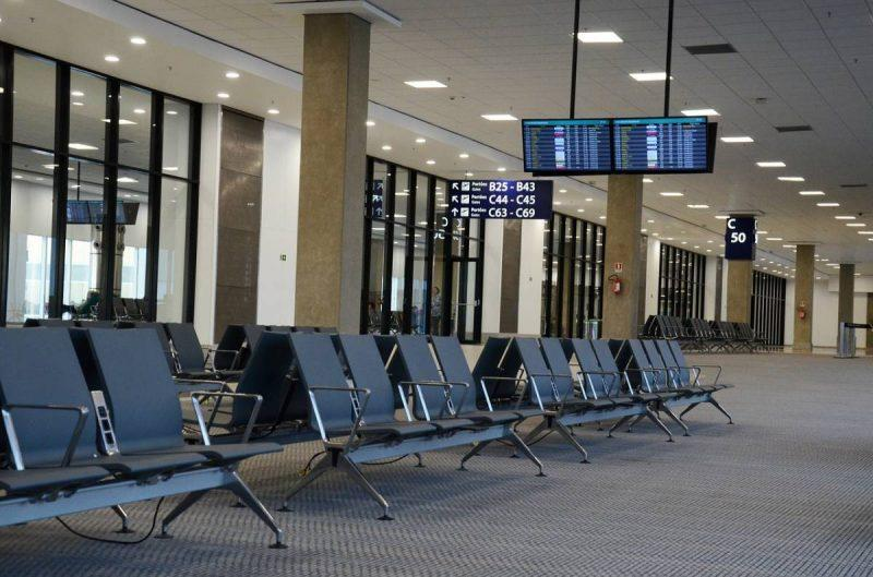 Empty boarding area