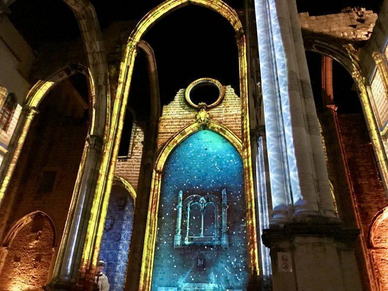 Lisbon Under the Stars show in the Carmo Convent