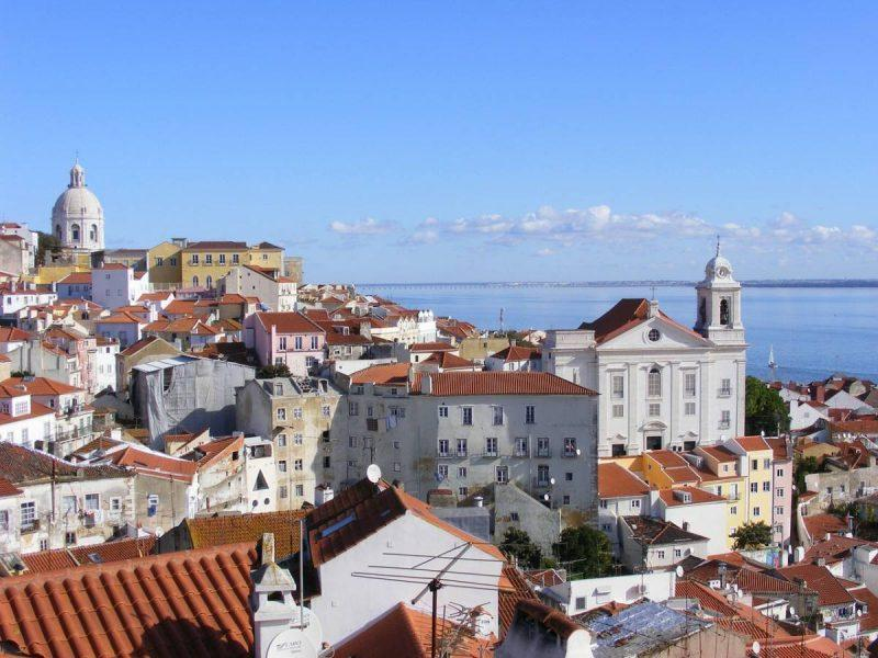 Panoramic views of Lisbon rooftops