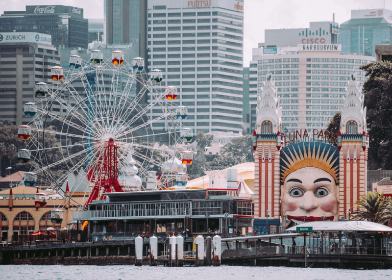 View of Luna Park from the harbor