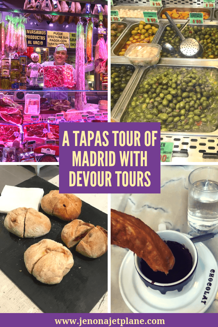 Want to go on a tapas tour in Madrid? Devour Tours Madrid will have you sampling local dishes, from churros to olives, allowing you to taste the best of the city. #foodtour #devourtours #madridtapas