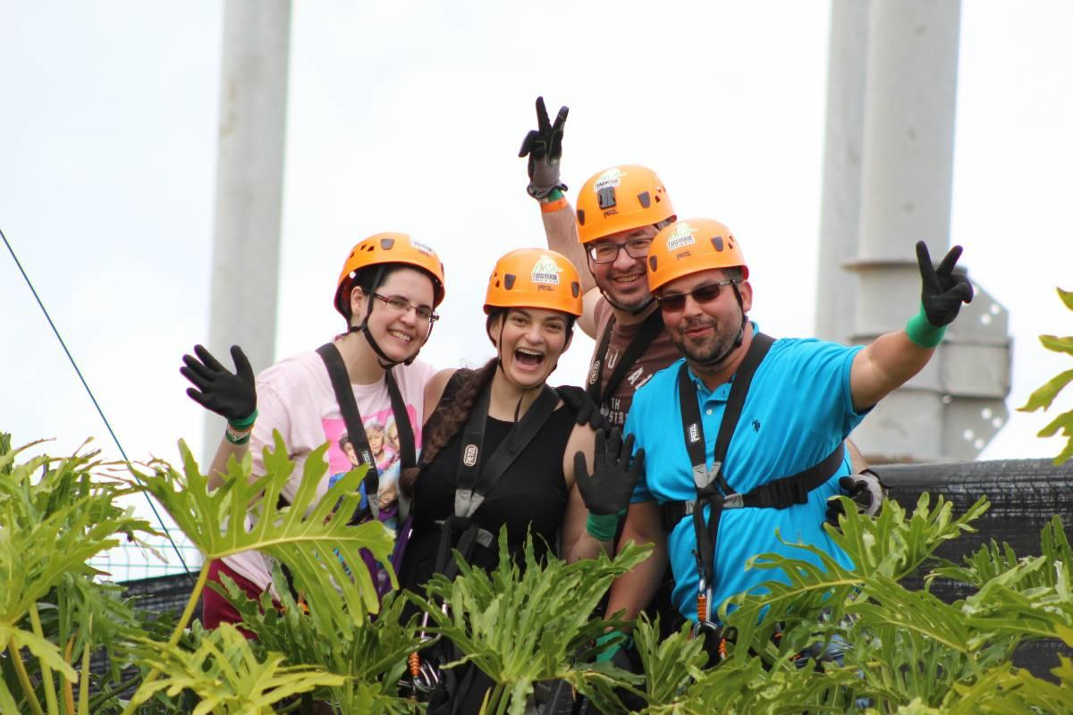 Our group after the first zipline