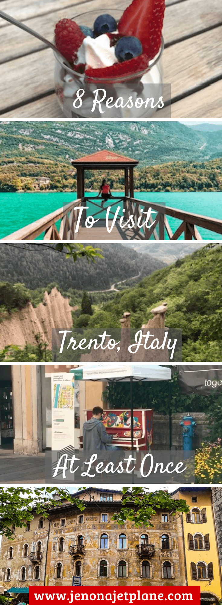 Thinking about visiting Trento, Italy? From its award winning Trento Doc brand to untouched natural experiences, here are 8 reasons why you need to add Trento, Italy to your bucket list! #trentoitaly #italytravel #bucketlist