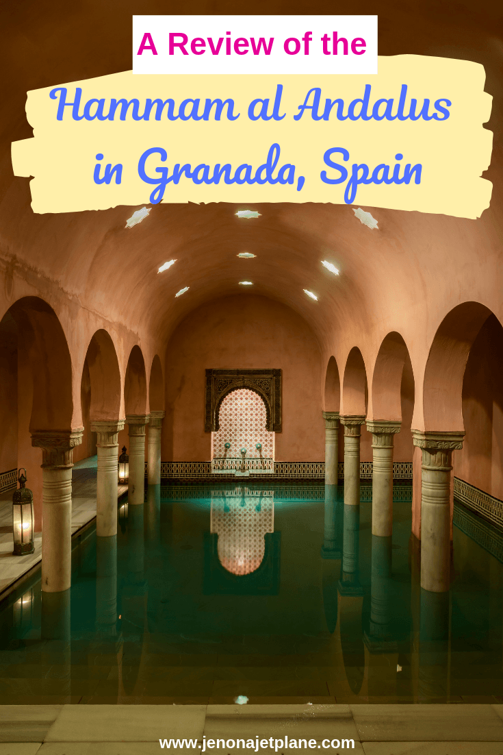 The Hammam al Andalus is a Turkish bath in Granada, Spain. Indulge in hot pools and massage treatments at the base of the Alhambra. Save to your travel board for future reference! #granadaspain #hammamspa #spaintravel