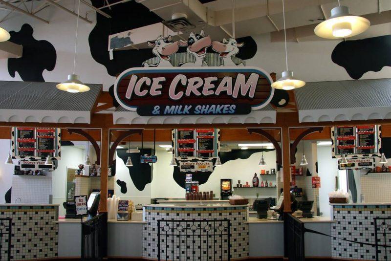 Milkshake and ice cream stand