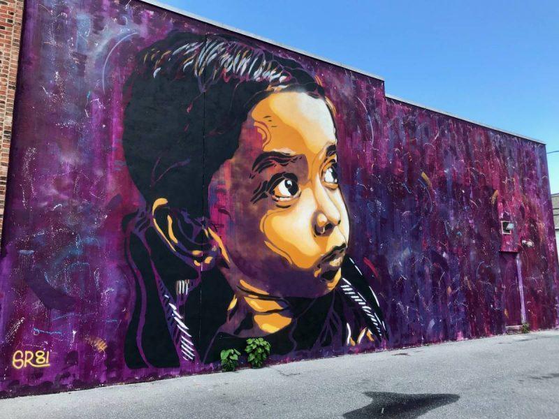 Street art mural in Harrisburg PA