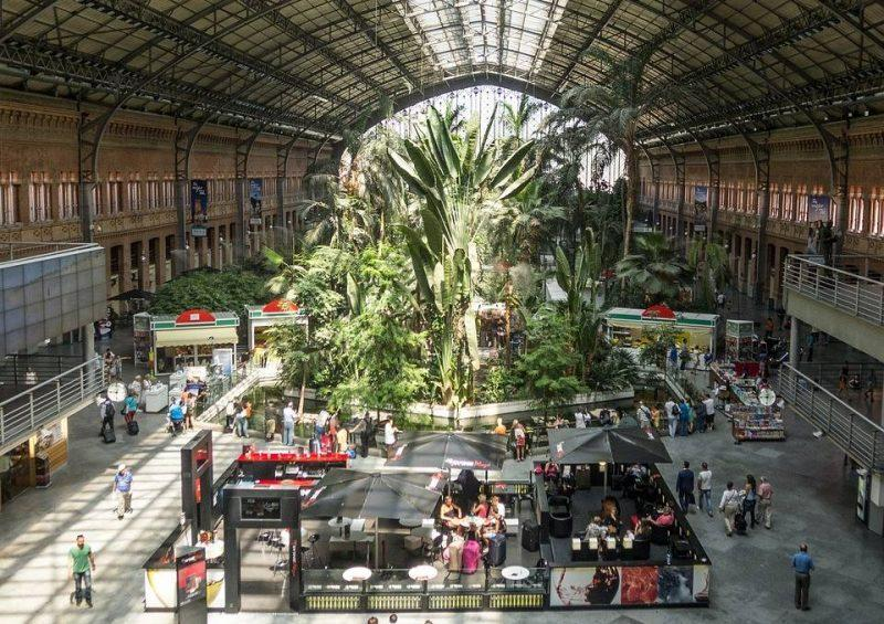 Atocha train station interior