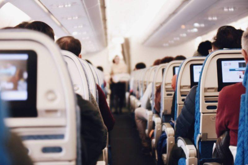 Airplane economy cabin