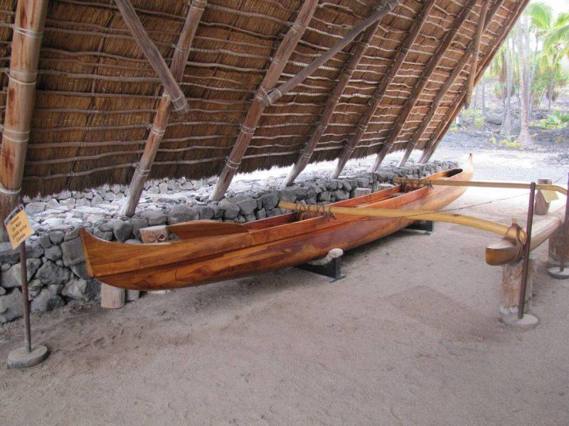 Canoe at an outdoor museum