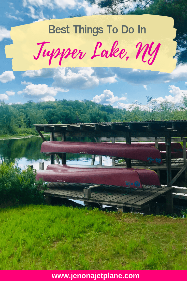 Looking for the best things to do in Tupper Lake, New York? From canoeing to a one-of-a-kind donut shop, here's 12 activities you can't miss! #newyork #tupperlake #tupperlakeny #travelnewyorkstate #newyorkroadtrip