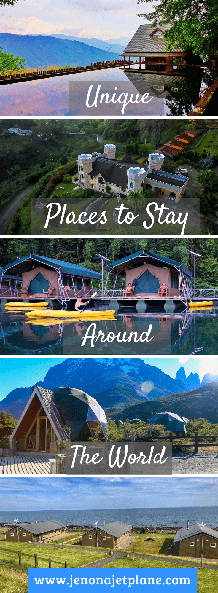 Looking for the most unique places to stay around the world? From igloos to jungle treehouses, these destinations should be on your bucket list! #travelinspiration #travelgoals #bucketlistideas #adventuretravel
