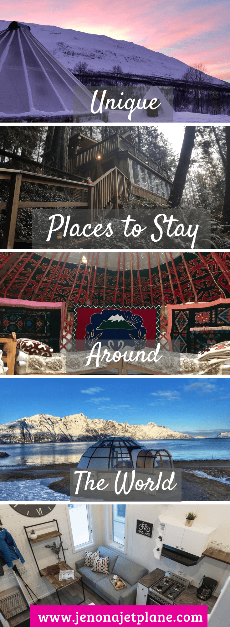 Looking for the most unique places to stay around the world? From igloos to jungle treehouses, these destinations should be on your bucket list! #travelinspiration #travelgoals #bucketlistideas #wanderlusttravel