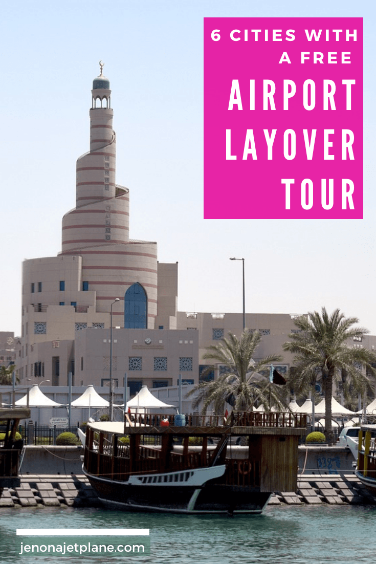 Did you know certain cities offer free airport layover tours for qualifying travelers? Find out if you're flying through any of these in the future and take advantage! #airportlayover #traveltips #freebies #travelfreebies #travelonabudget
