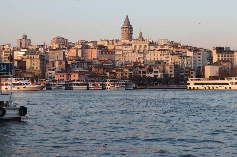 Istanbul skyline view from the water