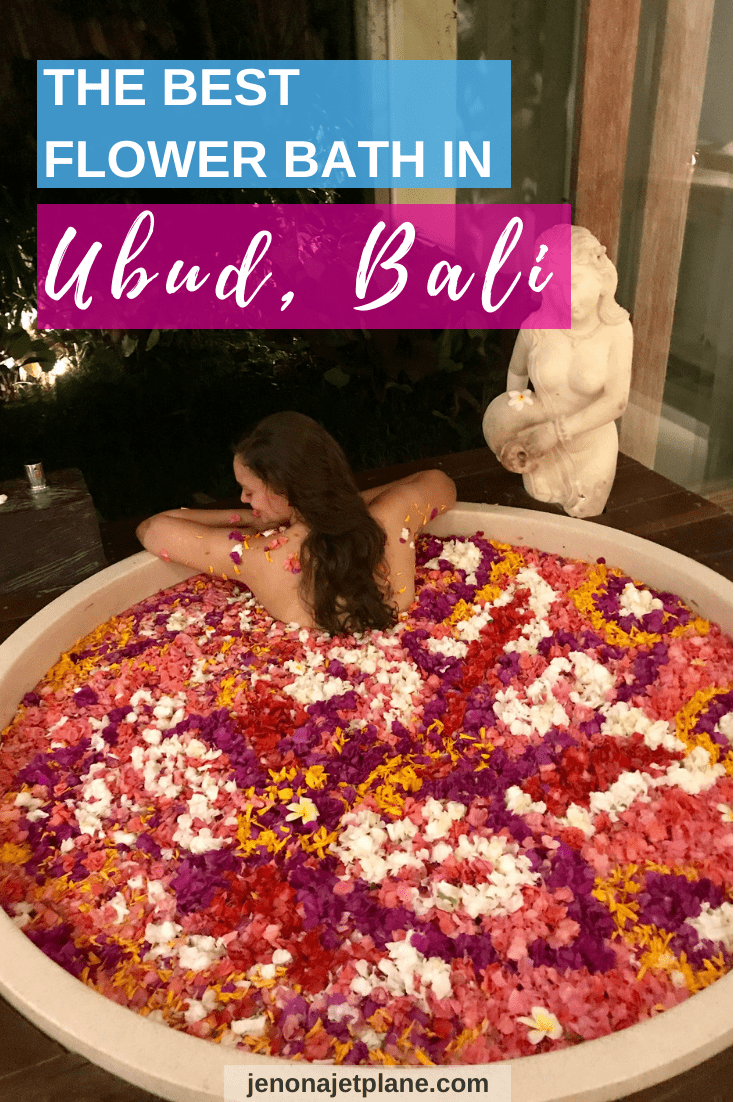 Looking for the best flower bath in Bali? The Udaya Resort and Spa in Ubud is a must if you're looking for luxurious spa treatments, including their famous Celebration of Flowers! #balitravel #thingstodoinbali #flowerbath #luxurytravel #spatravel #ubudbali