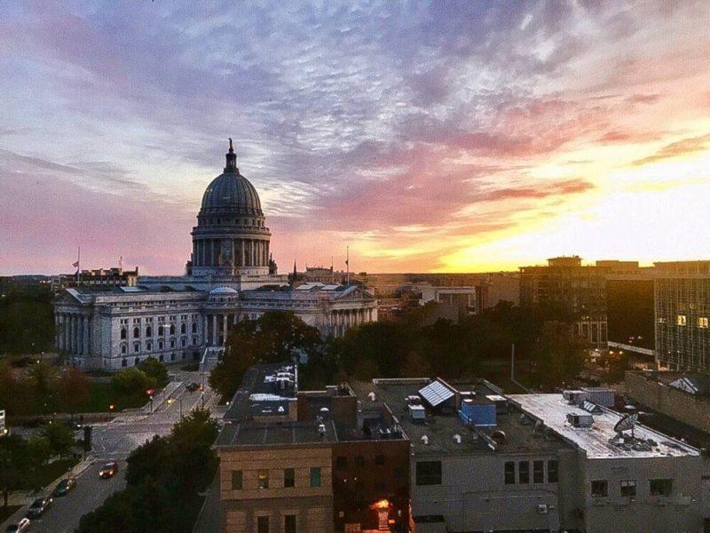 Sunset over Madison
