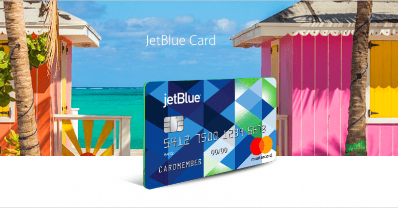 JetBlue Credit Card Offer on Website