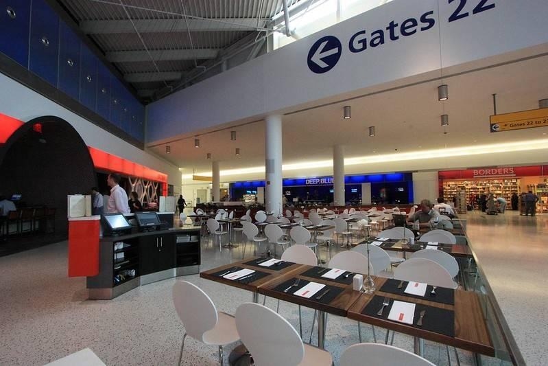 Dining area at JetBlue JFK Terminal