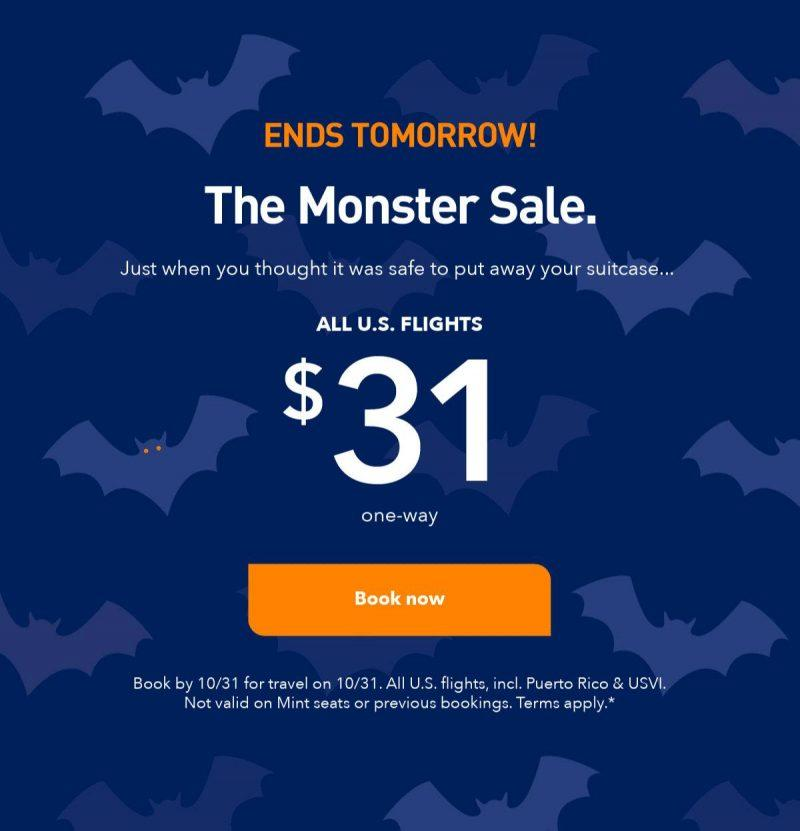 JetBlue promotion sent to email for $31 flight