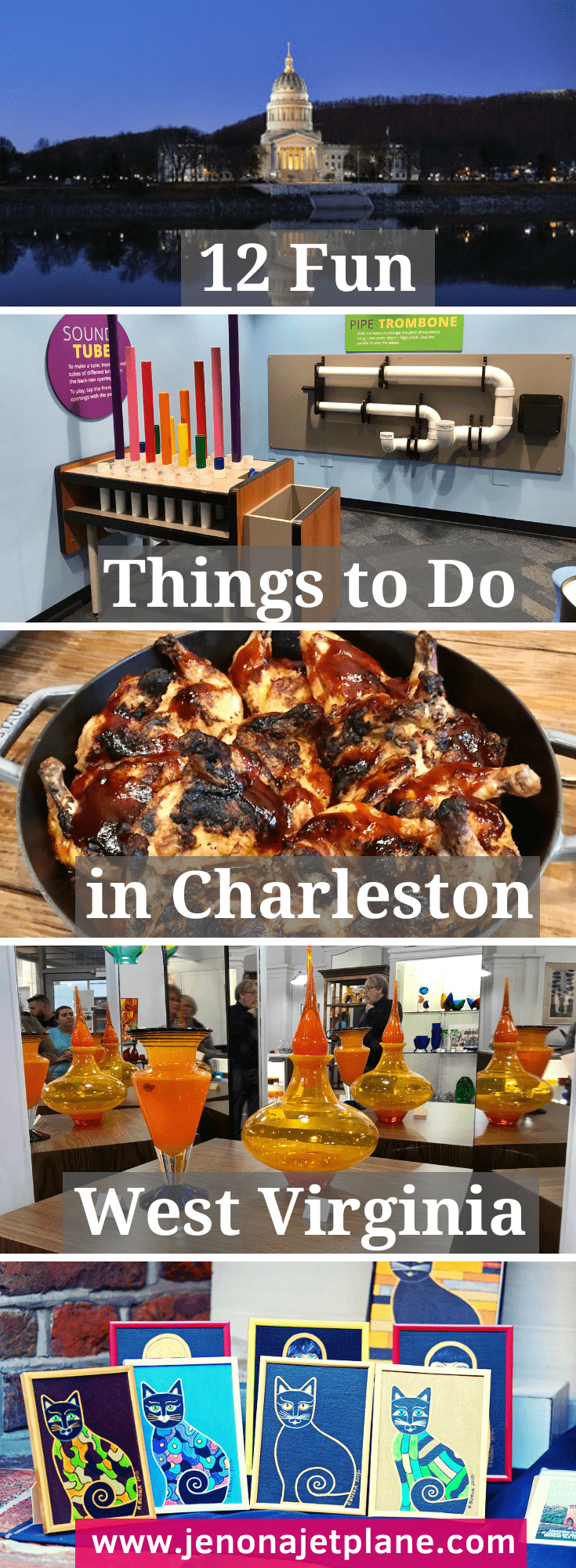 West Virginia's capital city is a hidden gem. Here's 12 fun things to do in Charleston, WV! #westvirginia #charlestonwestvirginia #charlestonwv #visitwestvirginia