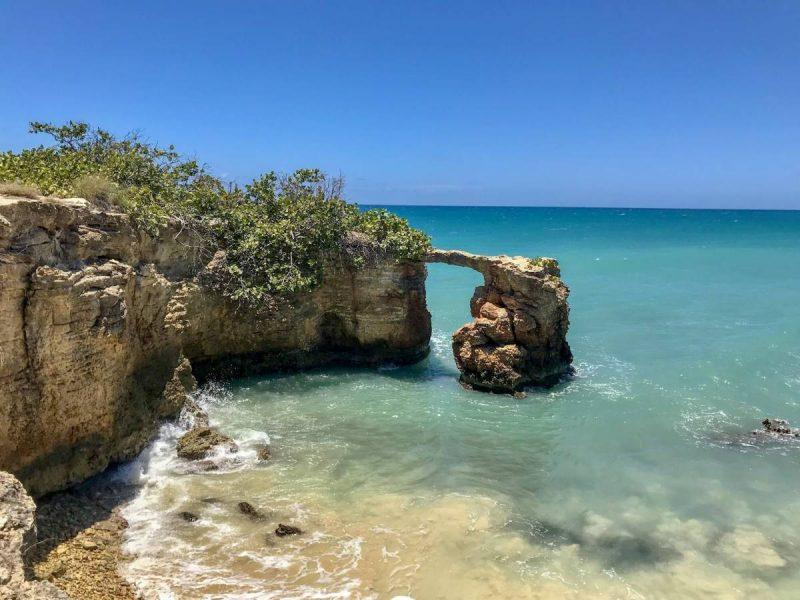 Pristine turquoise beach