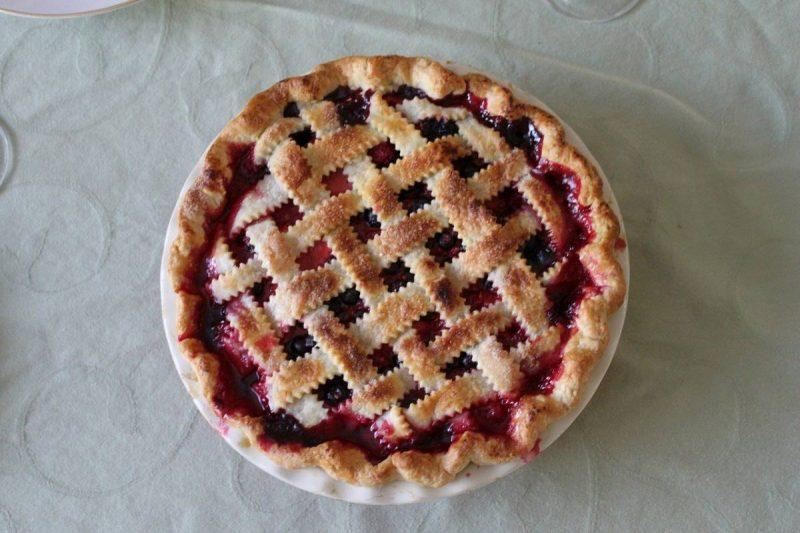 Cherry pie from above