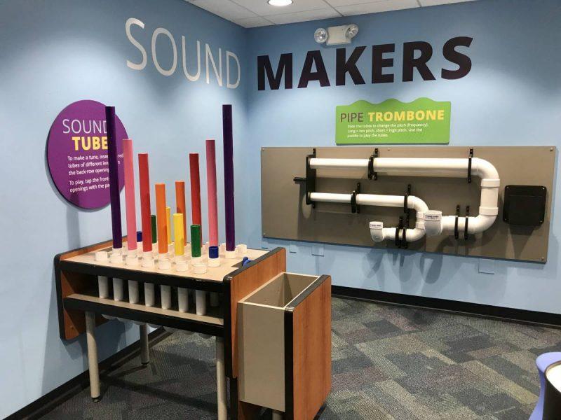 Museum exhibit on sound