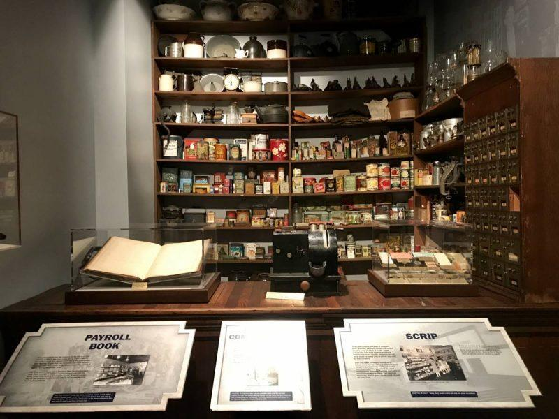 Museum exhibit showing an old store