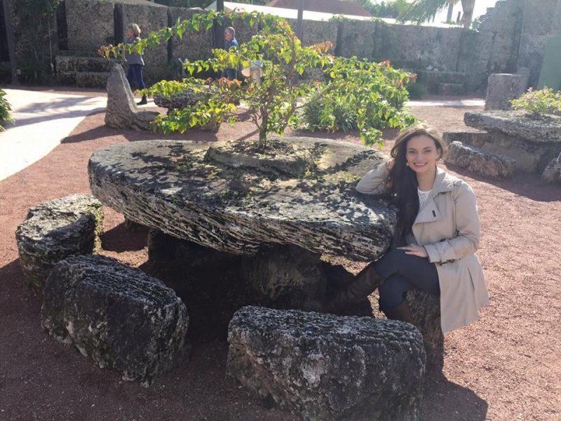 Heart shaped stone table